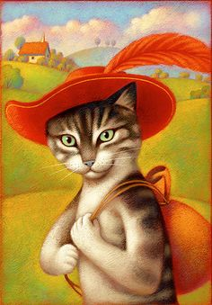 puss in boots by aguaplano 50 cute and colorful illustrations tribute to childrens day