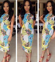 Simply dazzling! Elvira Jude Africa print dress