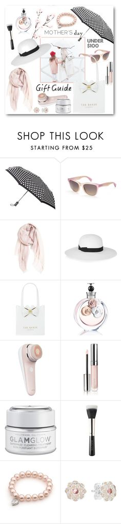 """""""Mother's Day: Under $100 Gift Guide"""" by brendariley-1 ❤ liked on Polyvore featuring Totes, Paul Smith, Nordstrom, Iris & Ink, Ted Baker, Valentino, By Terry, GlamGlow, Laura Mercier and Pandora"""