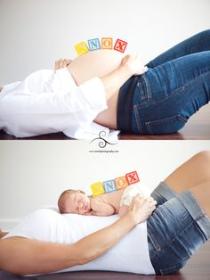 before/after baby photo idea.