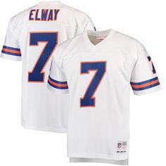 Men's Denver Broncos John Elway Mitchell & Ness White Replica Retired Player Jersey