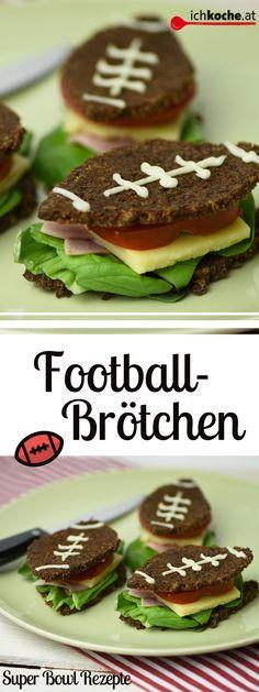 Diese köstlichen Football-Brötchen sind DER super schnelle Snack für den Super Bowl! Snacks Für Party, Easy, Quick Snacks