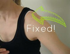 Undergarment Alteration   Want to learn how to replace the strap on your bra to look like a tank top strap