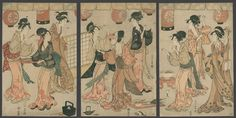 fine artistic geisha art   The Art of Japan - Geisha performing a Dance in a Teahouse - Eisho ...