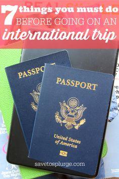 International trip checklist, things to do before international travel, vacation checklist and more.