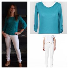 Summer Chic. Pair a light summer sweater with a pair of Yoga Jeans and you're set!