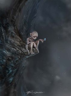 This is so sad! Poor Smeagol with only Gollum and the Ring for company :(