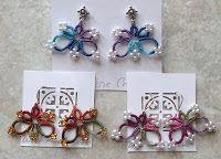 Butterfly motif earrings