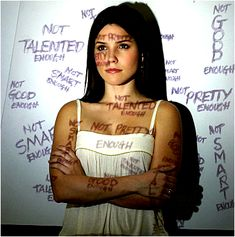 Negative self talk is a form of bullying. It's taking all the things you wouldn't want someone to say to you and saying it to yourself. Challenge those thoughts with positive affirmations....eventually you'll start to believe them. You ARE enough! We can't expect people to treat us better than we treat ourselves. #NoMoBullying!