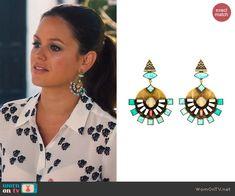 Zoe's earrings on Hart of Dixie.  Outfit Details: http://wornontv.net/44951/ #HartofDixie