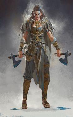 "MamBa on Twitter: ""바이킹에 미쳤을때 그렸던 컨셉… "" Viking Character, Female Character Design, Character Design Inspiration, Character Art, Character Concept, Arte Viking, Viking Art, Viking Woman, Fantasy Female Warrior"