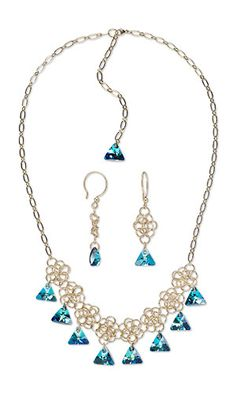 5390dba5c84c Jewelry Design - Single-Strand Necklace and Earring Set with Swarovski®  Crystals and Chainmaille - Fire Mountain Gems and Beads