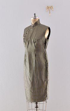1950s 1960s vintage dress / Mandarin dress / vintage by wenisit