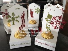 Hand made gifts certain people really want! DIY token of appreciation ideas for ladies, close friends, work colleagues, people, etc. Christmas Favors, Stampin Up Christmas, Christmas Candy, Christmas Treats, Thanksgiving Treats, Thanksgiving Table, Handmade Christmas, Holiday, Candy Crafts