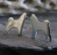 Akita Dog Stud Earrings