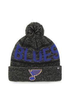 53a08f2d106  47 St Louis Blues Grey Northmont Cuff Knit Hat St Louis Blues