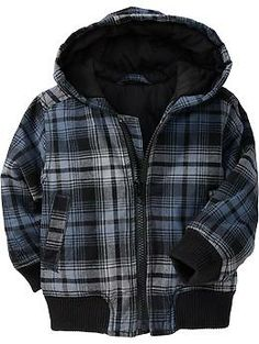Wyatt: Plaid-Hooded Jackets for Baby   Old Navy