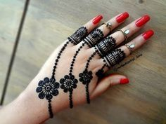 Eid 2017 special mehndi design || Easy latest Best jewellery mehndi designs for hands tutorial - YouTube