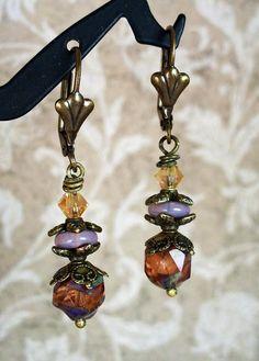 Enchanted Brass Boho Dainty Peachy Plum by RoEnchantedDesigns, $15.00