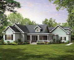 Traditional Country Living - 81326W | Country, Traditional, 1st Floor Master Suite, Bonus Room, CAD Available, MBR Sitting Area, PDF, Wrap Around Porch, Corner Lot | Architectural Designs