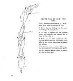 """How to Turn or """"Bend"""" Your Horse, from """"Learning to Ride, Hunt, and Show"""""""