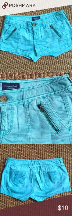 AEO Teal Jean Shorts Gently used American Eagle Outfitters Shorts