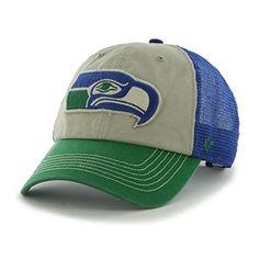 3ffa224da8c Seattle Seahawks 47 Brand Beige Blue Mesh McNally Clean Up Snapback Hat Cap   22.00 Seattle Seahawks