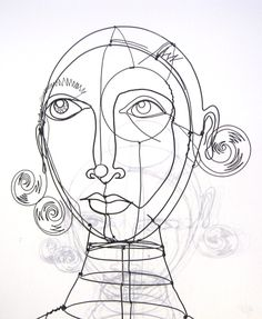 Diane Komater, wire artist. From http://www.wireist.com/index.html