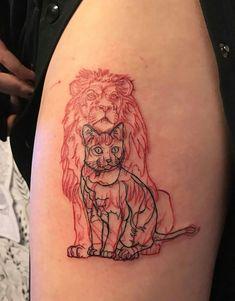 Meaningful Arm Tattoo, Cat in Lion's . Leo Tattoos, Future Tattoos, Body Art Tattoos, Tatoos, Dragon Tattoo For Women, Tattoos For Women, Piercing Tattoo, Piercings, Gaming Tattoo