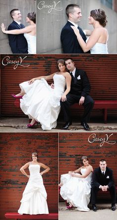 wedding photography poses, industrial, urban wedding photography    wedding photography by http://caseyvphotography.com