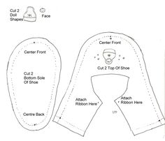 Baby Boy Sewing Patterns | Felt Baby Shoe Pattern - Matryoshka Doll - DIY Craft Project ...
