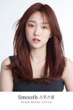Korean Hair Color Brown, Korean Medium Hair, Red Brown Hair, Medium Hair Cuts, Medium Hair Styles, Natural Hair Styles, Long Hair Styles, Brown Hair Kpop, Asian Red Hair