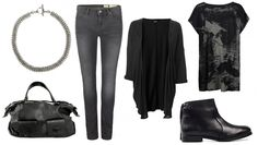 daily look_ dark with a chain necklace