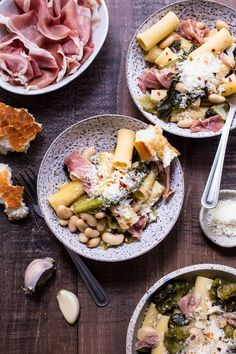 Rigatoni with Braised Escarole, White Beans and Prosciutto | http://girlinthelittleredkitchen.com