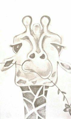 Cute! Pěkné Kresby, Kresby Tužkou, Co Nakreslit, Easy Pencil Drawings, Kresba Tužkou, Žirafy, Skeče, Umělecká Řemesla