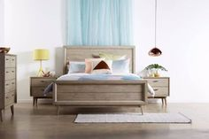 "Hardwood Timber ""Belrose"" Queen Size Bed Frame 