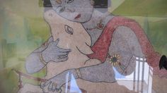 A 1920's Wooden Framed Fine Embroidery Picture of by Lallibhai