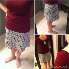 The other obvious keeper from #6 was the Gilli Kelsey Skirt. Classic pattern which will match with tons of stuff in my closet! Easy to dress up or down, comfortable and very figure flattering. Top came from another B/S/T member, the Loveappella Gatspy Fitted Knit Top. Seems like half my closet is burgundy since joining Stitch Fix, but I'm okay with it! The scoop neck and leather trim are very cute details. Glad I got it in L, it's quite fitted.