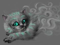 Cheshire cat tattoo idea
