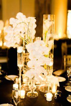 Featured Photographer:Elyse Hall Photography; wedding centerpiece idea