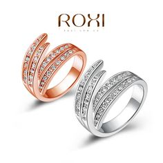 R0025, $ 6.50/piece. Size : 5,6,7,8,9.Cheap gift, Gift rose gold/platinum plated ring,Austrian Crystals Ring Nickle free Antiallergic .