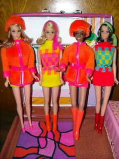 Oh yeah, I remember those days. Dressing all of the Barbie's and then stand them in a line. Barbie even looked good in the awful '70s fashions!