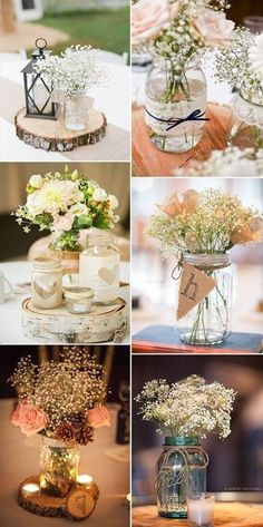 51 Ideas for vintage wedding table centerpieces decor - Decoration Home Trendy Wedding, Diy Wedding, Rustic Wedding, Wedding Flowers, Dream Wedding, Wedding Vintage, Wedding Ideas, Vintage Weddings, Wedding Simple