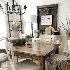 Modern Home Decoration .Modern Home Decoration Decor, Farmhouse Dining, Farm House Living Room, Italian Home, Dining Room Design, Living Room Decor, Home Decor, Dining Room Decor, Country Style Homes