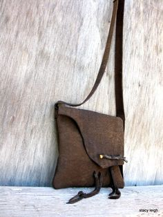 Small+Rustic+Bark+Brown+Leather+Twig+Cross+Body+Bag+by+stacyleigh,+$125.00
