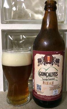 Cerveja Gonçalves Pale Ale, estilo American Pale Ale, produzida por Cervejaria Caseira, Brasil. 5.5% ABV de álcool.