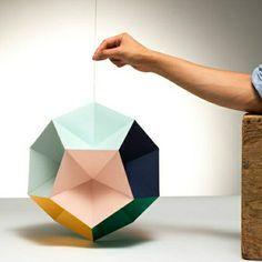origami abat-jour lumière les plantes d'intérieur vertes pliage de papier origami