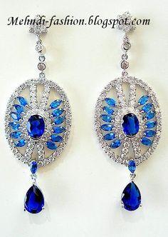 Latest Pakistani Indians & Arabic mehndi design jewelry & dresses Fashions 2012 2013 2014: Earrings Design