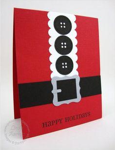 Santa Suit Card -- cute!