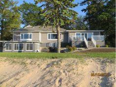 spacious beachfront home, caseville